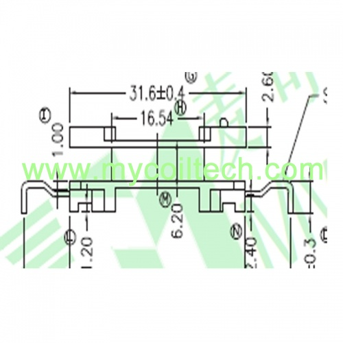 6 Pins High Frequency PQ38 Electronic Transformer Bobbin
